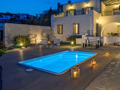 Photo for This 1-bedroom villa for up to 2 guests is located in Paros Island and has a private swimming pool,