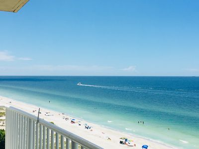 Photo for On the beach! Corner Beach Penthouse with stunning views. Pool and hot tub