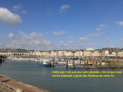 Photo for Apartment located in Dieppe with splendid views of the harbor and the sea