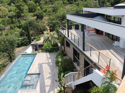 Photo for Sea View, House 400M2, Pool 13x4, SPA 2km from the beach ... A TRUE treat !!!!