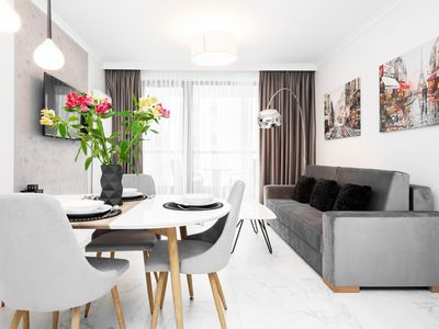 Photo for Apartment Dzielna 64/111 | WiFi, Smart TV, Bedroom, Balcony