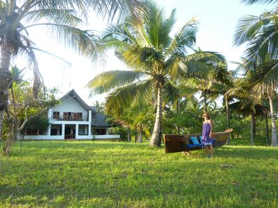 Our tropical garden is set in a coconut plantation, very exclusive and private