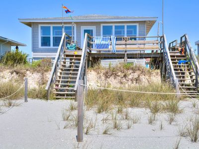 Photo for Oceanfront At Holden Beach.  Perfect for small family, and Pet Friendly too !