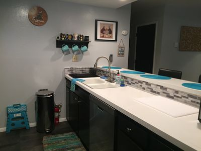 updated kitchen with seating for 4