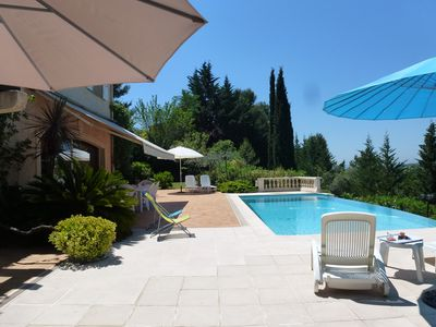 Photo for Beautiful property on the hill of Nice, Saint-Roman-de-Bellet,