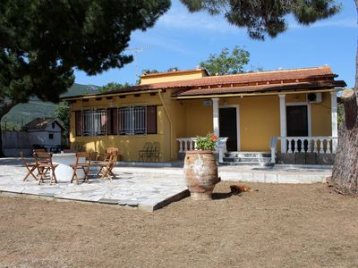Photo for Detached holiday home at the sea, garden and terrace | Halilounas, Corfu