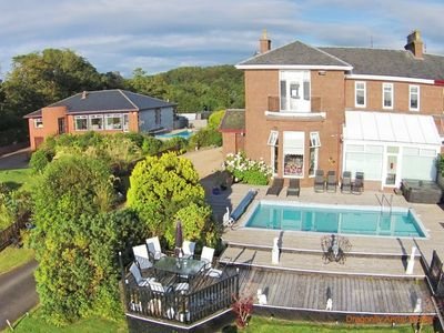 Photo for Amazing House With Private Swimming Pool, Hot Tub & Stunning Views, Wemyss Bay