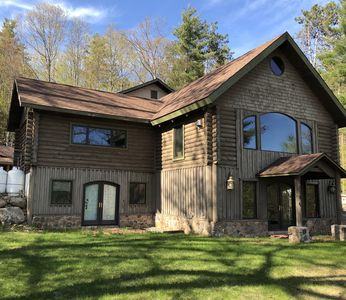 Photo for Giant Adirondack House - Gorgeous lake view home perfect for 2 Family Vacation