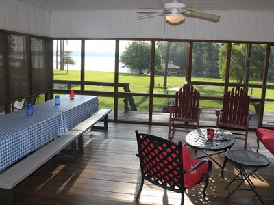 Photo for One Acre Lakefront Home; 15 Minutes To Pine Dunes Golf!