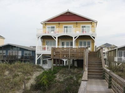 View of the beach side of the house.