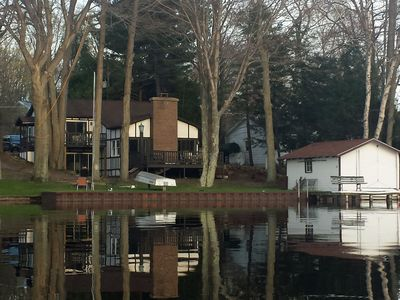 Photo for Happy Day on Hamlin: 4 BR Home w/ Private Frontage & Dock (Sleeps 10)