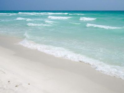 Beautiful white sand beach at Windancer