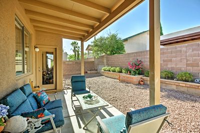 Experience the desert when you stay in this 4-bedroom, 2-bathroom vacation rental house in Tucson.