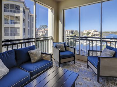 Photo for Updated Luxury Condo with Gorgeous Water Views Granite Hardwood Floors New Furniture