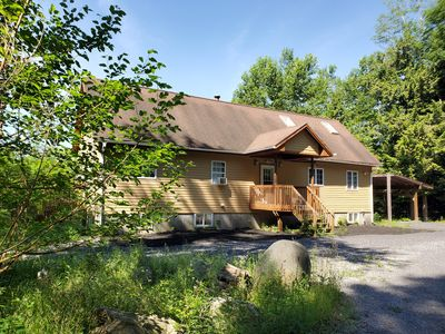 Photo for Lakefront Wilderness Home close to town