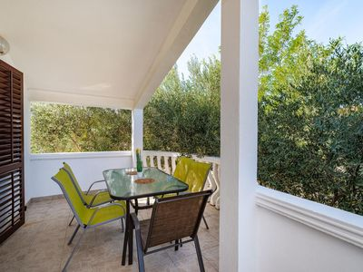 Photo for Two bedroom apartment with terrace and sea view Nin, Zadar (A-5857-c)