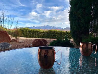 Photo for Cozy Cactus Condo with Fabulous Patio View, Pools