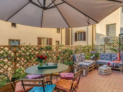 Photo for This two bedroom apartment is located on Borgo San Lorenzo in the heart of the Old City of Florence.