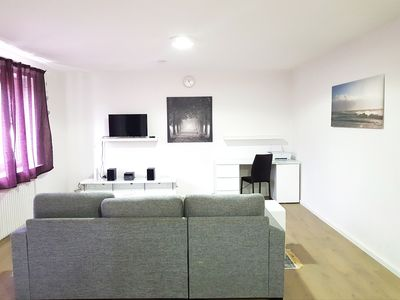 Photo for 90m2 Wesel apartment - 3 rooms with kitchen for family / group