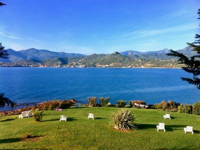 Photo for B1 Apartment sea and mountains view, Residence Padovani Marina, ground floor