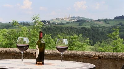 Photo for THE BEST VIEW apartment overlooking San Gimignano