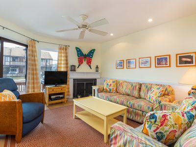 Photo for Bayside townhomes by the beach w/ decks, shared pool, & tennis
