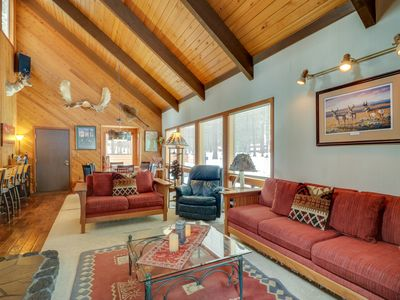 Photo for Rustic cabin with a private patio and shared pools, hot tubs & resort amenities!