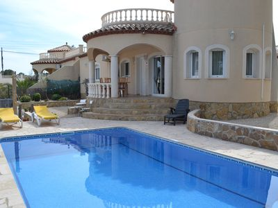 Photo for Fabulous spacious 3 bed villa. Private heated pool. FREE WIFI.Quiet and secure