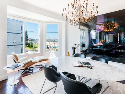 Photo for Luxurious eclectic Manhattan style beachside apartment. Prime location & views