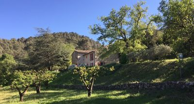 Photo for Located pretty Provencal villa with guest house and big pool in Menerbes