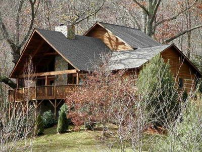 Photo for Fox's Lair 3 bedroom 2.5 Bath Log Cabin in Valle Crucis NC