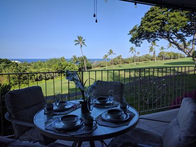 Early morning on the lanai