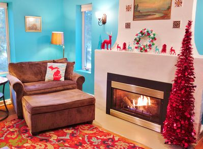 Spend the holidays by the fire at Blue Door Cottage