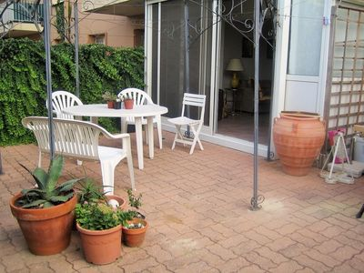 Photo for BEAUTIFUL APPARTMENT AT 50 M OF THE BEACH, GARDEN