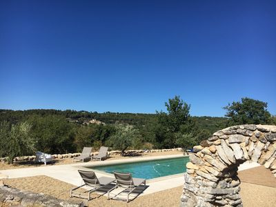 Photo for LUBERON - MENERBES - 17th century house in 5 acres garden with heated pool and view
