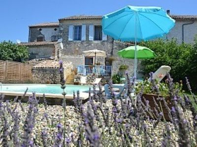 Photo for Village House with garden and private pool in a charming Bastide Village