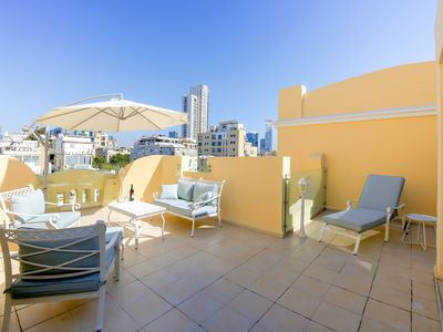 Photo for Penthouse apartment with 29 m² terrace in the heart of Tel Aviv