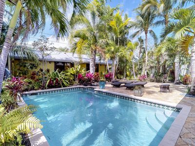 Photo for Dog-friendly home w/ private pool, spectacular patio, & soothing tropical style