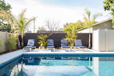 Enjoy the ultimate vacation at this hip, poolside gem in Pasadena.