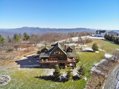 Sky view of Beech View Lodge