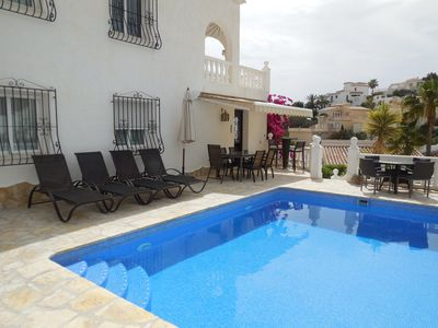 Photo for VILLA ON 2 LEVELS COSTA BLANCA, MORAIRA WITH SUPERB VIEWS TO THE SEA