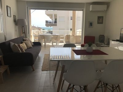 Photo for Apartment with sea view terrace 100m from the beach