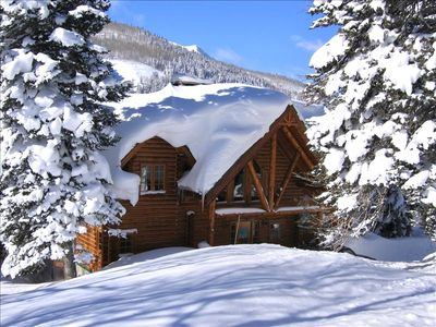 Photo for Luxurious Handcrafted Log Home Minutes to Solitude or Brighton
