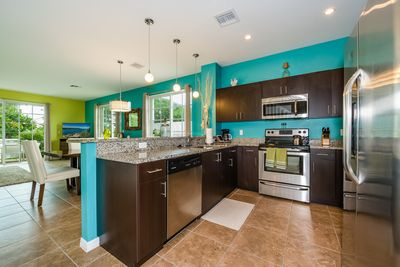 Kitchen - The kitchen with granite countertops and a full suite of stainless steel appliances