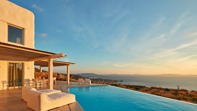 Photo for Villa Sable Mykonos Private Sunset Infinity Pool 4br upto 10guests