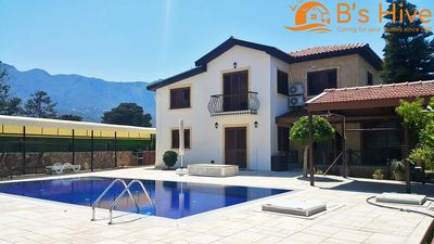 Photo for MODERN 4/5 BEDROOM VILLA WITH PRIVATE POOL WITHIN SHORT STROLL FROM THE BEACH!
