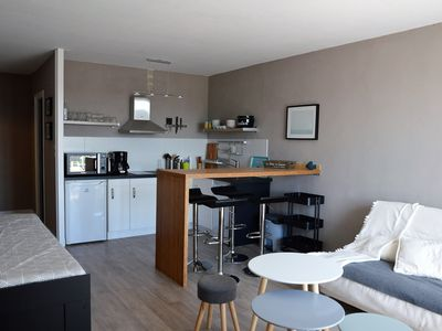 Photo for STUDIO 2 to 4 people, modern, sea view! forest, bike paths, ideal sport