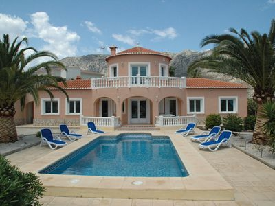 Photo for Spanish villa with large pool, sea views, in a wonderful residential area in Beniarbeig