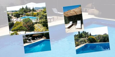 Photo for Provence green quiet house near the sea 6 bedrooms private pool secure