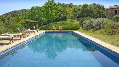 Photo for SPECTACULAR Nature Oasis Farmhouse w/ Hilltop Panoramic Views, Saltwater Pool